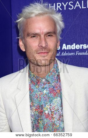LOS ANGELES - JUN 7:  Balthazar Getty at the 13th Annual Chrysalis Butterfly Ball at Private Mandeville Canyon Estate on June 7, 2014 in Los Angeles, CA