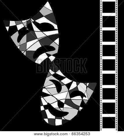 black white background cinema