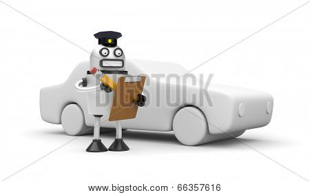 Robocop officer towing auto