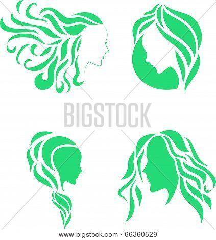 Hair fashion icon symbol of female beauty