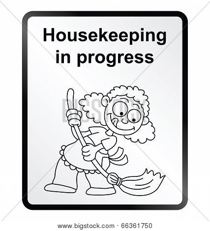 Housekeeping Information Sign