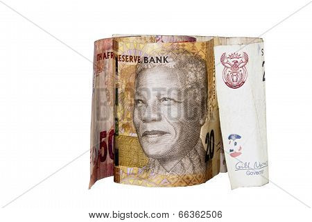 South African Bank Notes Showing Nelson Mandela