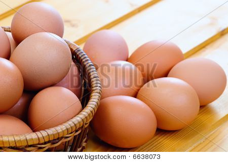 Chicken Eggs Of Brown Color