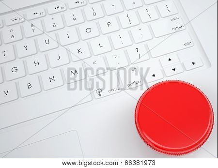 Danger button on the keyboard