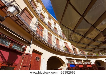 Valencia Plaza Redonda is a round square in old downtown at Spain