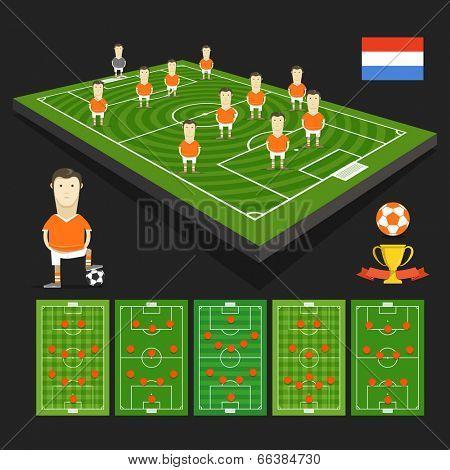 Soccer world cup team presentation. Holland team