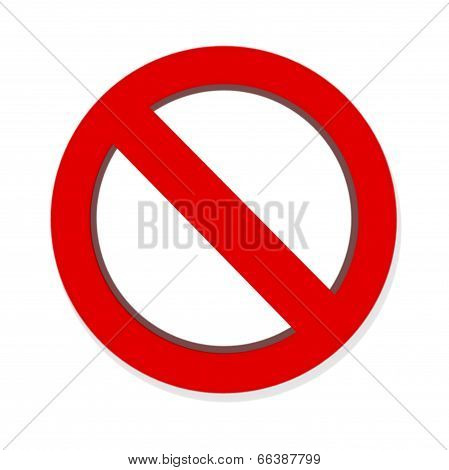 Do Not Red Warning Sign Isolated On White Background