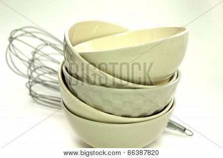 Small Cup And Whipper On White Background