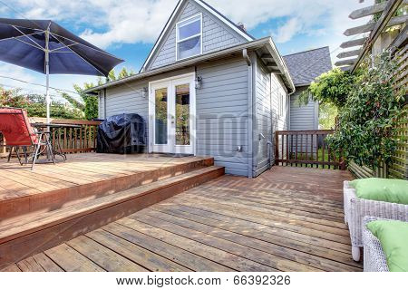 Backyard Deck With Patio Area