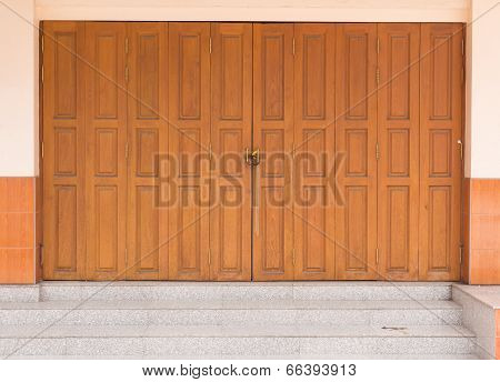 Locked Brown Wooden Door