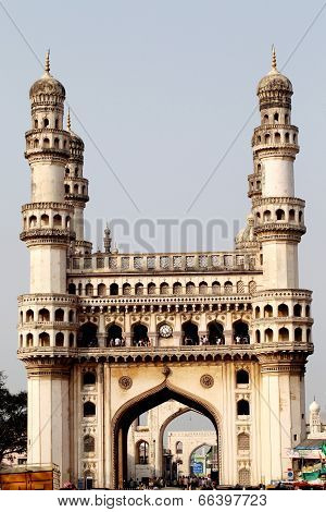 Charminar At Hyderabad, Andhra Pradesh, India