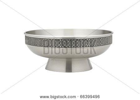 luxury pewter salad bowl