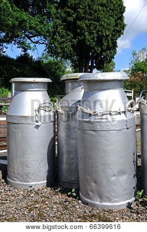 Old CWS milk churns.