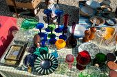 pic of thrift store  - Decorative Knick Knack at a flea market stand - JPG