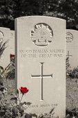 stock photo of tyne  - An australian soldier of the great war WW1 - JPG