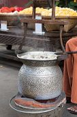 foto of silk worm  - silkworm boil , silk string processing, Hot,cloth ** Note: Soft Focus at 100%, best at smaller sizes - JPG
