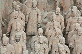 foto of qin dynasty  - Terracotta worriers from archeological site - JPG