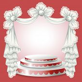 pic of lace-curtain  - Abstract background with theater stand and lace curtain - JPG