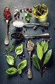 stock photo of slating  - Herbs and spices selection  - JPG
