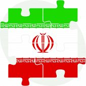 pic of iranian  - Vector illustration of Iranian Flag in puzzle isolated on white background - JPG