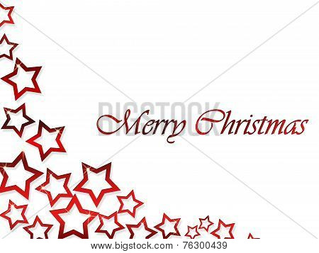 Merry Christmas on the elegant Red Stars background