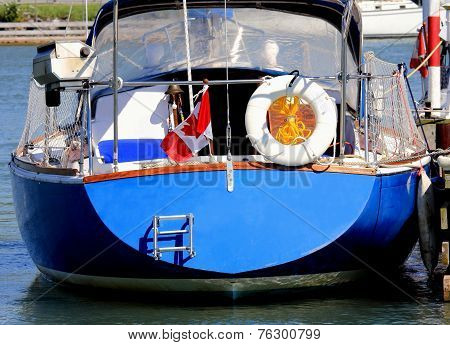 Sailboat is Dockside