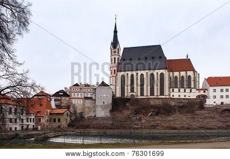 Saint Vitus Cathedral In Cesky Krumlov, Czech