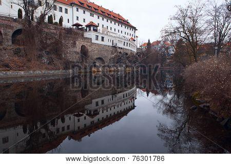 Jesuit Dormitory In Cesky Krumlov. Czech Republic
