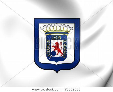 Flag Of Leon, Nicaragua.