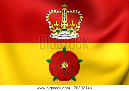 Flag Of Hampshire, England.