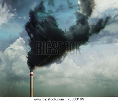 Air pollution caused by industry