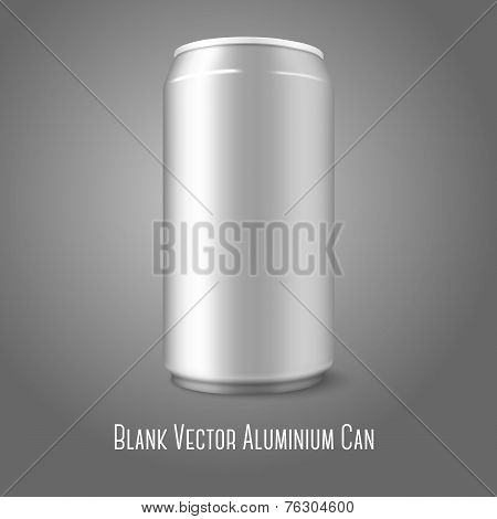 Blank vector aluminium can, for different designs of beer, lager, alcohol, soft drinks, soda, lemona
