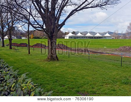New Hagley Oval Cricket Pavilion  & Grass Bank Opened In Christchurch