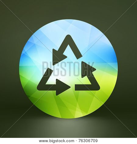 Recycle sign. Ecology icon. Vector illustration for your design.