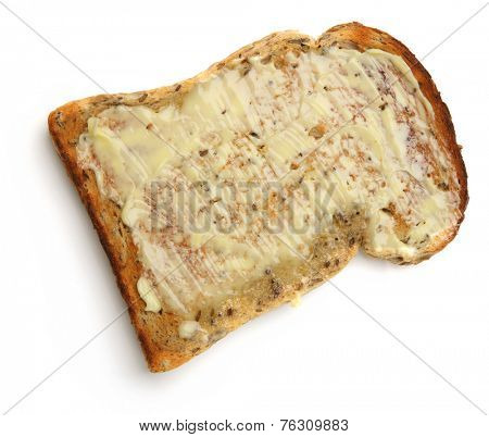 Wholewheat toast with lots of butter