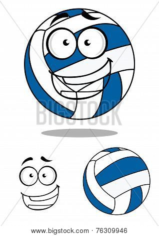 Happy cartoon volley ball
