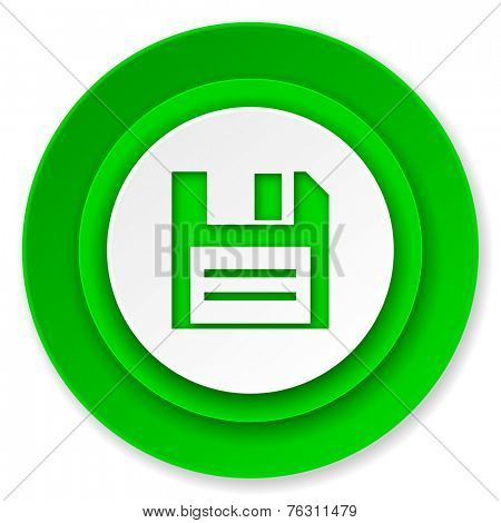 disk icon, data sign