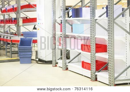 image of a boxes in a warehouse