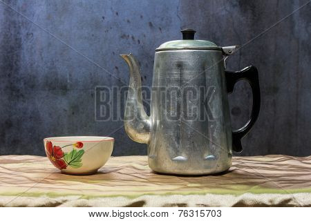Still Life Classic Kettle With Cup