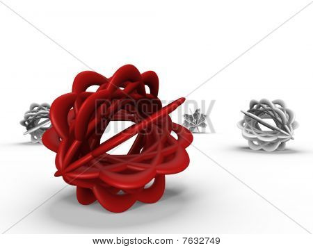 Abstract objects in isolated - a 3d image