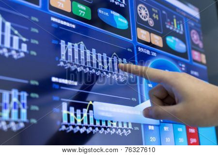 clicking and analysis business financial report. This is a ERP system which can display company's financial status in graph and report the daily or monthly sale information simultaneously.