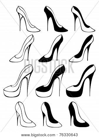 Silhouettes Of Shoes