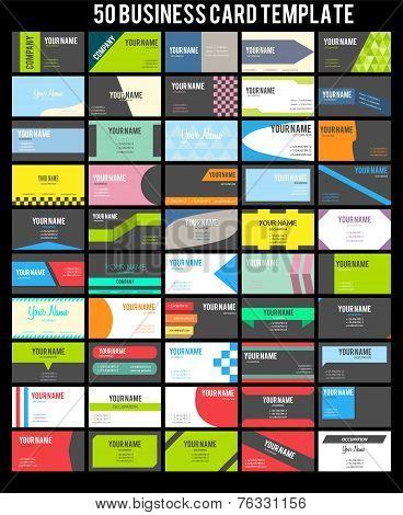 50 Business Card Template