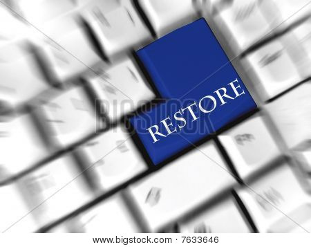restore - enter sign