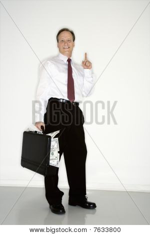 Confident Wealthy Businessman
