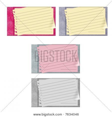 4 journals vector