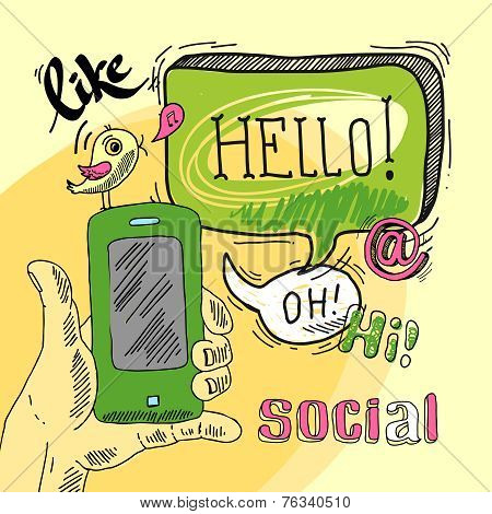 Speech bubble social