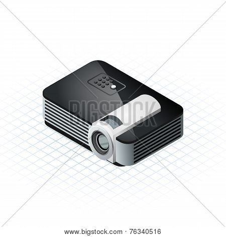 Isometric Projector Vector Illustration