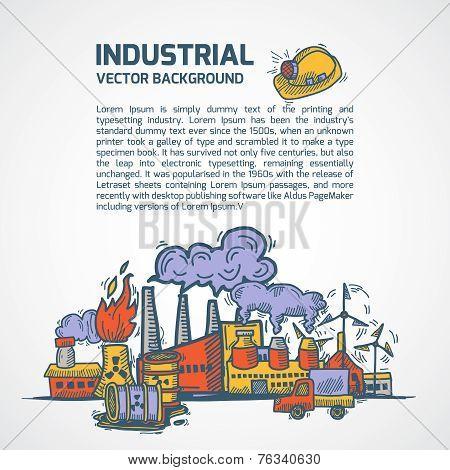 Industrial sketch background