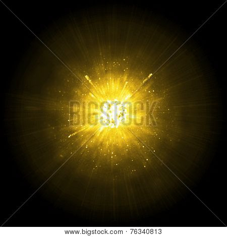 Gold big explosion